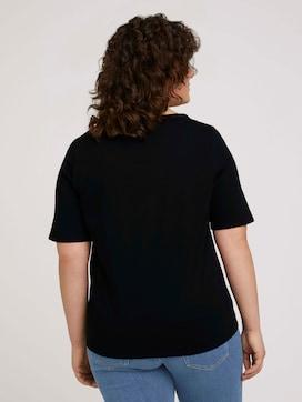 T-Shirt mit V-Ausschnitt aus Bio-Baumwolle - 2 - My True Me