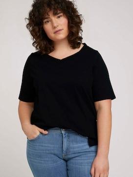 T-Shirt mit V-Ausschnitt aus Bio-Baumwolle - 5 - My True Me