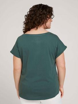 Curvy - Gemustertes T-Shirt mit LENZING(TM) ECOVERO(TM) - 2 - My True Me