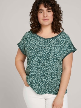Curvy - Gemustertes T-Shirt mit LENZING(TM) ECOVERO(TM) - 5 - My True Me