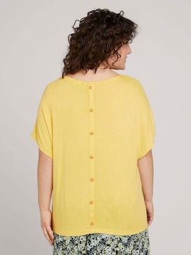 Jersey T-shirt with a button tab - 2 - My True Me