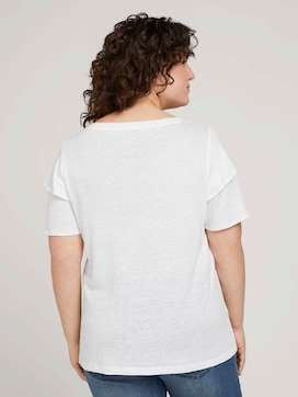 T-shirt with ruffled sleeves - 2 - My True Me