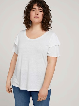 T-shirt with ruffled sleeves - 5 - My True Me