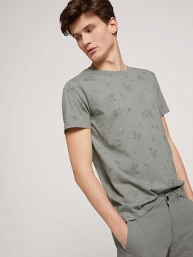 gemustertes T-Shirt mit Bio-Baumwolle - 5 - TOM TAILOR Denim