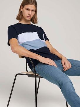 T-Shirt im Colour Blocking - 5 - TOM TAILOR Denim