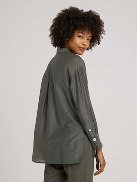 Oversized Bluse mit Seide - 2 - Mine to five