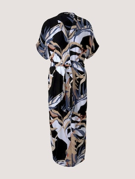 Patterned midi dress with a collar - 7 - Mine to five