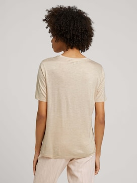 Meliertes T-Shirt mit Raffung - 2 - Mine to five
