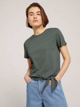 T-shirt met knoop detail - 5 - TOM TAILOR Denim