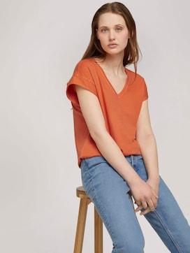 T-Shirt mit Ärmelaufschlag - 5 - TOM TAILOR Denim