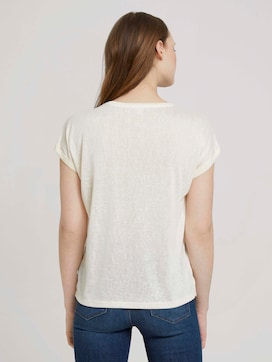T-shirt with cuffs - 2 - TOM TAILOR Denim