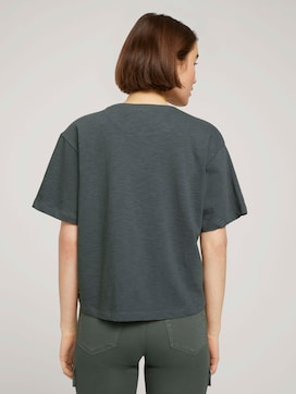 Cropped basic t-shirt - 2 - TOM TAILOR Denim