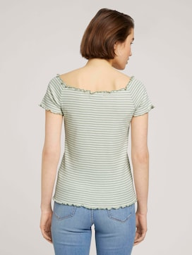 Off Shoulder Carmen gestreept T-shirt - 2 - TOM TAILOR Denim