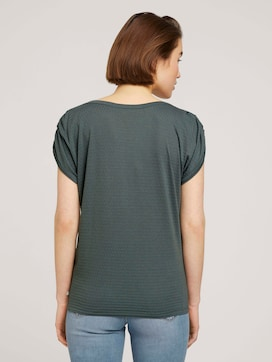 T-Shirt mit Faltendetail - 2 - TOM TAILOR Denim