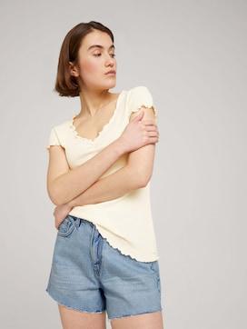 T-Shirt mit Wellensaumkante - 5 - TOM TAILOR Denim