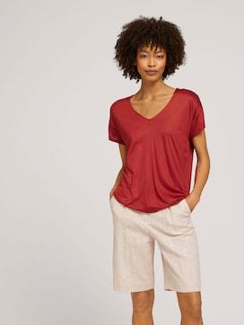 T-shirt met V-hals - 5 - Mine to five