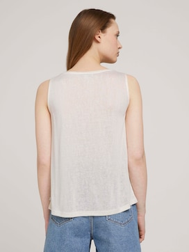 Flowing top with a button tab - 2 - TOM TAILOR Denim