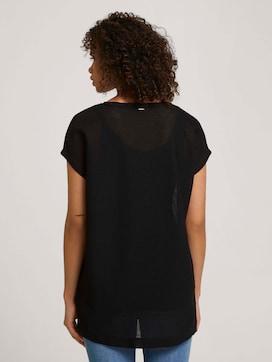 Lang T-shirt met splitten - 2 - TOM TAILOR Denim