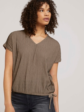 Textured t-shirt with a drawstring - 5 - TOM TAILOR Denim