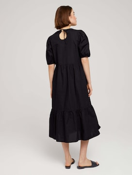midi dress with balloon sleeves - 2 - TOM TAILOR Denim