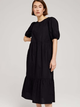 midi dress with balloon sleeves - 5 - TOM TAILOR Denim