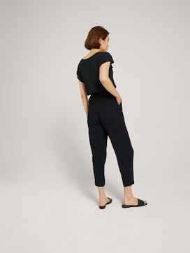 Jumpsuit with a tie belt - 2 - TOM TAILOR Denim