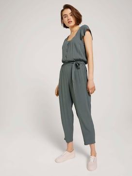 Jumpsuit with a tie belt - 5 - TOM TAILOR Denim