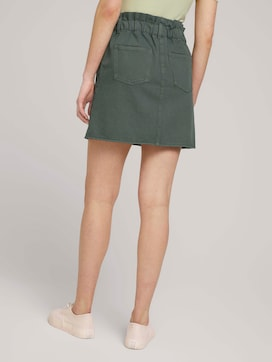 Paperbag mini skirt made with organic cotton   - 2 - TOM TAILOR Denim