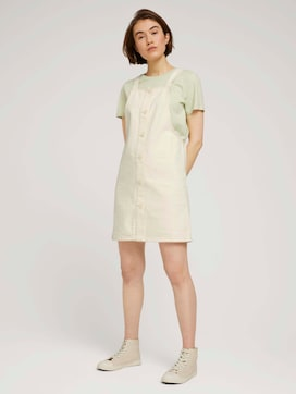 mini dungaree dress made with organic cotton   - 3 - TOM TAILOR Denim