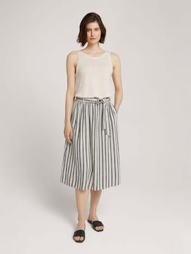 Linen midi skirt with a tie belt - 3 - TOM TAILOR Denim