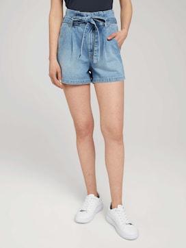 Paperbag denim shorts with a belt - 1 - TOM TAILOR Denim