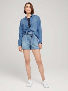 Paperbag denim shorts with a belt - 3 - TOM TAILOR Denim