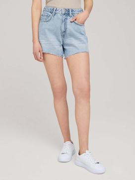 Mom-fit shorts with fringes - 1 - TOM TAILOR Denim