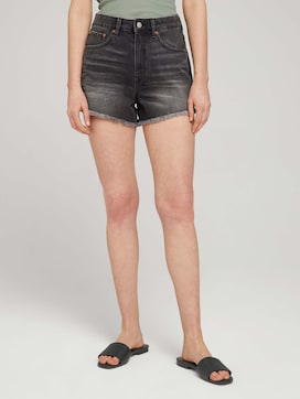 Mom Fit Shorts mit Fransen - 1 - TOM TAILOR Denim