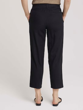 Tapered linen fabric trousers made with linen - 2 - TOM TAILOR Denim