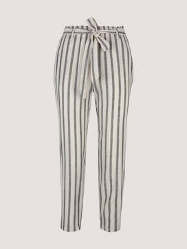 Tapered linen fabric trousers made with linen - 7 - TOM TAILOR Denim