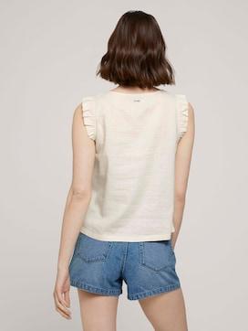 Sleeveless linen blouse - 2 - TOM TAILOR Denim