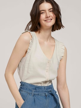 Sleeveless linen blouse - 5 - TOM TAILOR Denim