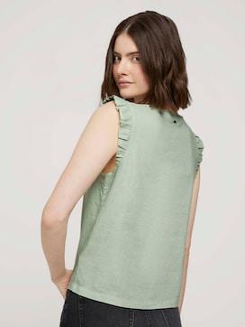 Mouwloze geknoopte blouse met linnen - 2 - TOM TAILOR Denim