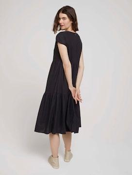 Short-sleeved flounce midi dress made of linen - 2 - TOM TAILOR Denim