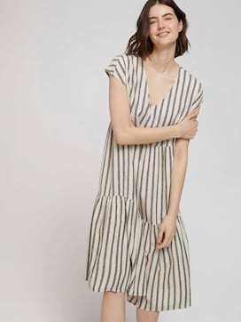 Short-sleeved flounce midi dress made of linen - 5 - TOM TAILOR Denim
