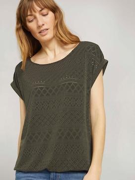 Elastisches T-Shirt mit Strukturmuster - 5 - TOM TAILOR