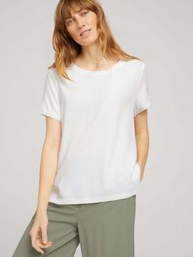 T-Shirt im Materialmix - 5 - TOM TAILOR
