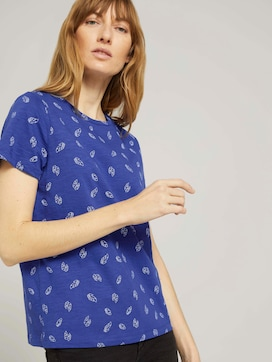 Gemustertes T-Shirt aus Bio-Baumwolle - 5 - TOM TAILOR