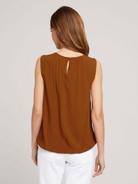 Mouwloze blouse met elastische tailleband - 2 - TOM TAILOR
