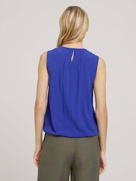 Ärmellose Bluse mit elastischem Bund - 2 - TOM TAILOR