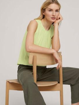 Ärmellose Bluse mit elastischem Bund - 5 - TOM TAILOR
