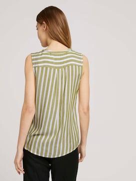 Mouwloze blouse met strepen - 2 - TOM TAILOR