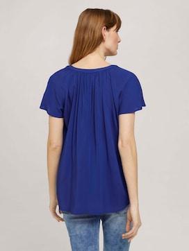 Short-sleeved ruffled blouse - 2 - TOM TAILOR