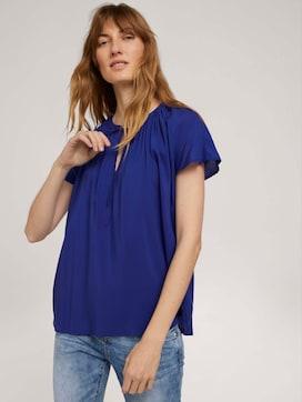 Short-sleeved ruffled blouse - 5 - TOM TAILOR